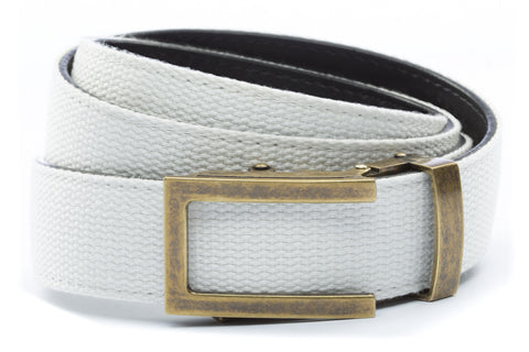 1-25-quot-traditional-buckle-in-antiqued-gold 1-25-quot-white-canvas-strap