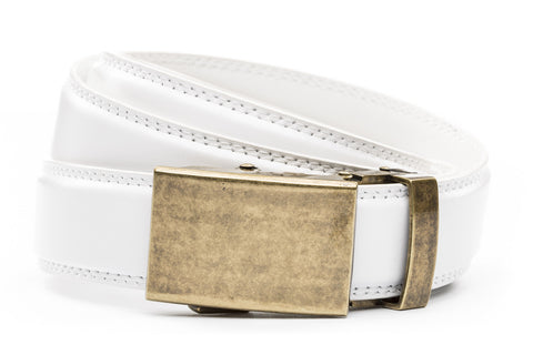 1-25-quot-classic-buckle-in-antiqued-gold 1-25-quot-white-leather-strap