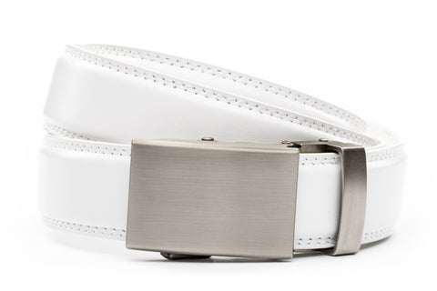 1-25-quot-classic-buckle-in-gunmetal 1-25-quot-white-leather-strap