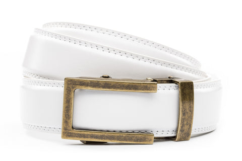 1-25-quot-traditional-buckle-in-antiqued-gold 1-25-quot-white-leather-strap