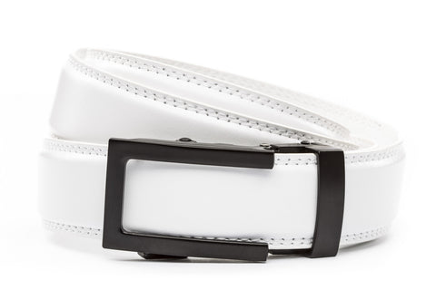 1-25-quot-traditional-buckle-in-black 1-25-quot-white-leather-strap