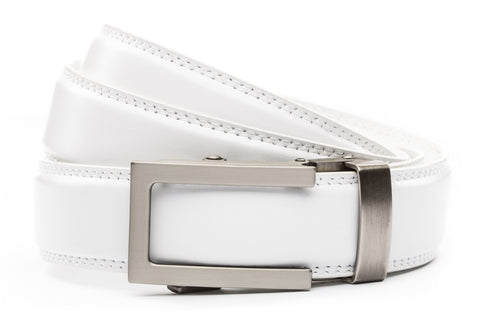 1-25-quot-traditional-buckle-in-gunmetal 1-25-quot-white-leather-strap