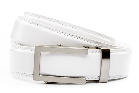 1-25-quot-traditional-buckle-in-silver 1-25-quot-white-leather-strap