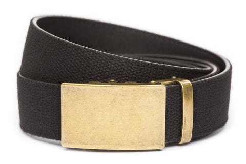 1-5-quot-classic-buckle-in-antiqued-gold xl-1-5-quot-black-canvas-strap