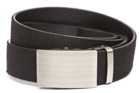 1-5-quot-classic-buckle-in-gunmetal xl-1-5-quot-black-canvas-strap