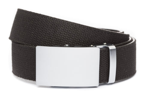 1-5-quot-classic-buckle-in-silver xl-1-5-quot-black-canvas-strap