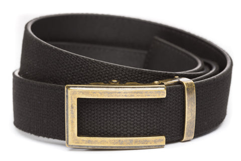 1-5-quot-traditional-buckle-in-antiqued-gold 1-5-quot-black-canvas-strap