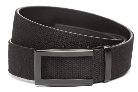 1-5-quot-traditional-buckle-in-black xl-1-5-quot-black-canvas-strap