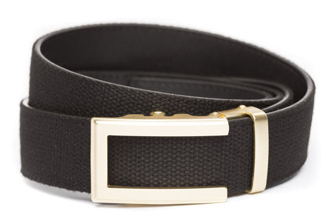 1-5-quot-traditional-buckle-in-gold xl-1-5-quot-black-canvas-strap