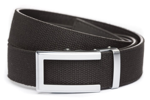 1-5-quot-traditional-buckle-in-silver xl-1-5-quot-black-canvas-strap