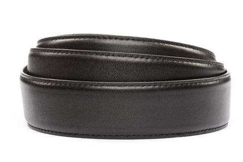 "1.5"" Concealed Carry Black Leather Strap - Anson Belt & Buckle"