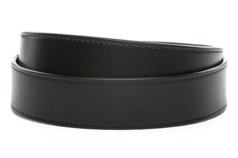 "1.5"" Black Vegetable Tanned Leather Strap"