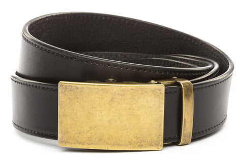 1-5-quot-classic-buckle-in-antiqued-gold 1-5-quot-black-vegetable-tanned-leather-strap