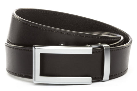 1-5-quot-traditional-buckle-in-silver 1-5-quot-black-vegetable-tanned-leather-strap