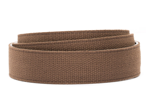 "1.5"" Brown Canvas Strap - Anson Belt & Buckle"