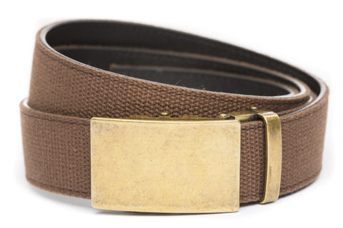 1-5-quot-classic-buckle-in-antiqued-gold 1-5-quot-brown-canvas-strap