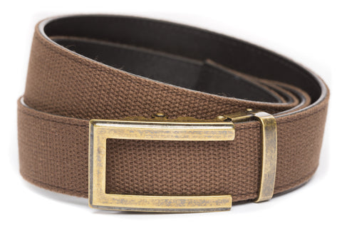 1-5-quot-traditional-buckle-in-antiqued-gold 1-5-quot-brown-canvas-strap