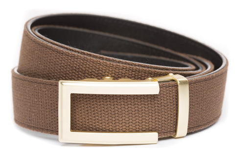 1-5-quot-traditional-buckle-in-gold 1-5-quot-brown-canvas-strap
