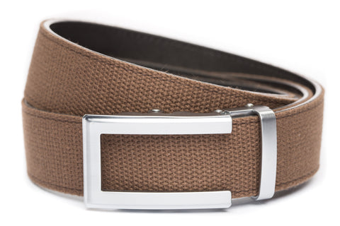 1-5-quot-traditional-buckle-in-silver 1-5-quot-brown-canvas-strap