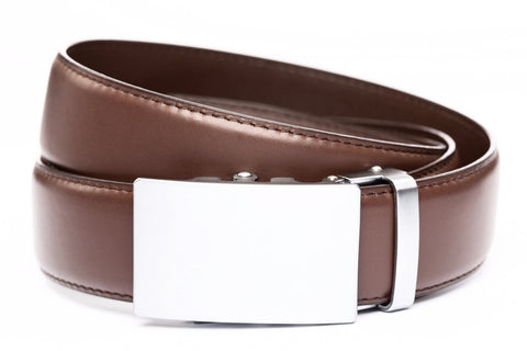 1-5-quot-classic-buckle-in-silver 1-5-quot-chocolate-leather-strap