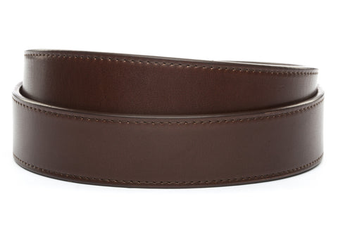 "1.5"" Chocolate Vegetable Tanned Leather Strap - Anson Belt & Buckle"