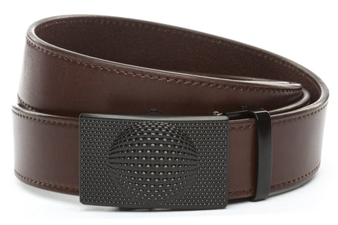 1-5-quot-anson-golf-buckle-in-black 1-5-quot-chocolate-vegetable-tanned-leather-strap