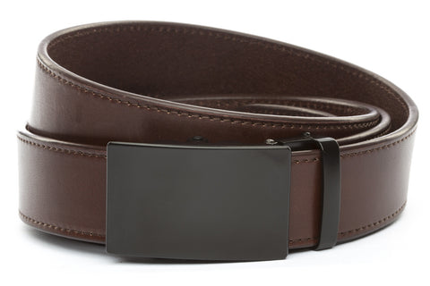 1-5-quot-classic-buckle-in-black 1-5-quot-chocolate-vegetable-tanned-leather-strap