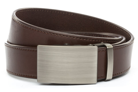 1-5-quot-classic-buckle-in-gunmetal 1-5-quot-chocolate-vegetable-tanned-leather-strap