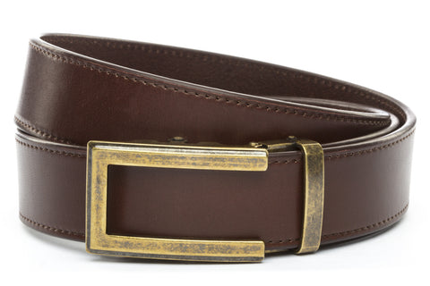 1-5-quot-traditional-buckle-in-antiqued-gold 1-5-quot-chocolate-vegetable-tanned-leather-strap