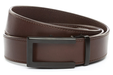 1-5-quot-traditional-buckle-in-black 1-5-quot-chocolate-vegetable-tanned-leather-strap