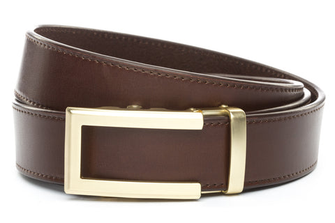 1-5-quot-traditional-buckle-in-gold 1-5-chocolate-vegetable-tanned-leather