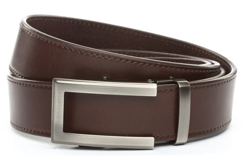 1-5-quot-traditional-buckle-in-gunmetal 1-5-quot-chocolate-vegetable-tanned-leather-strap