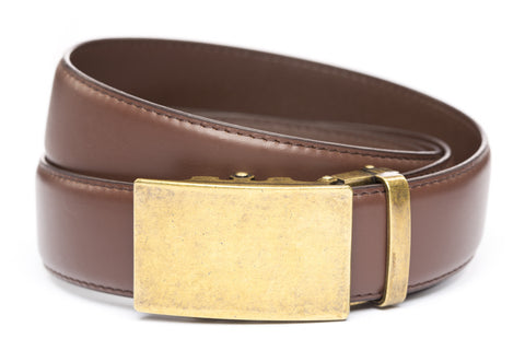 1-5-quot-classic-buckle-in-antiqued-gold 1-5-quot-chocolate-leather-strap