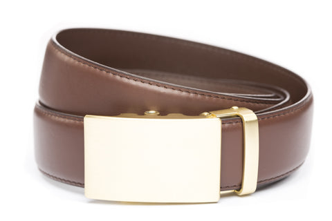 1-5-quot-classic-buckle-in-matte-gold 1-5-quot-chocolate-leather-strap