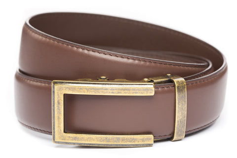 1-5-quot-traditional-buckle-in-antiqued-gold 1-5-quot-chocolate-leather-strap