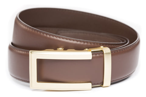 1-5-quot-traditional-buckle-in-gold 1-5-quot-chocolate-leather-strap