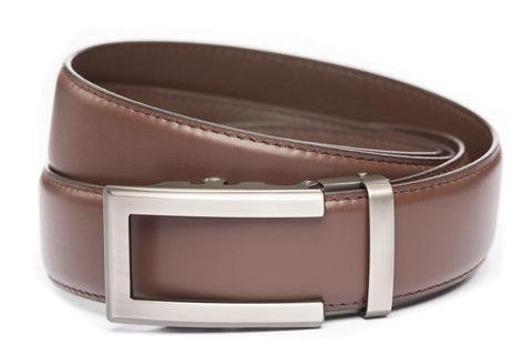 1-5-quot-traditional-buckle-in-gunmetal 1-5-quot-chocolate-leather-strap