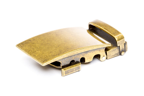 "1.5"" Classic Buckle in Antiqued Gold - Anson Belt & Buckle"