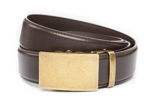 1-5-quot-classic-buckle-in-antiqued-gold 1-5-quot-dark-brown-leather-strap