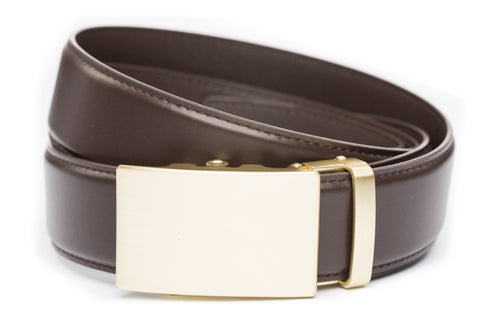 1-5-quot-classic-buckle-in-matte-gold 1-5-quot-dark-brown-leather-strap