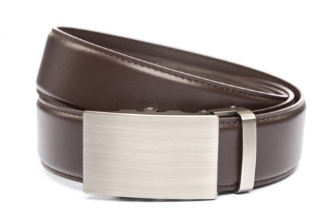 1-5-quot-classic-buckle-in-gunmetal 1-5-quot-dark-brown-leather-strap