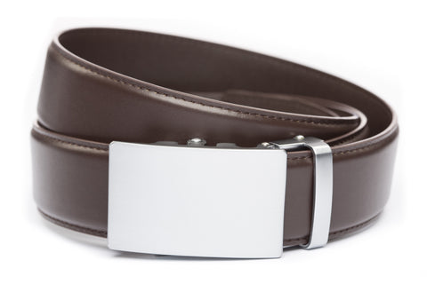 1-5-quot-classic-buckle-in-silver 1-5-quot-dark-brown-leather-strap