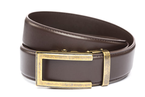 1-5-quot-traditional-buckle-in-antiqued-gold 1-5-quot-dark-brown-leather-strap
