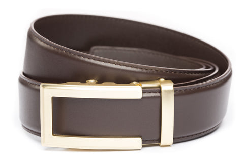 1-5-quot-traditional-buckle-in-gold 1-5-quot-dark-brown-leather-strap