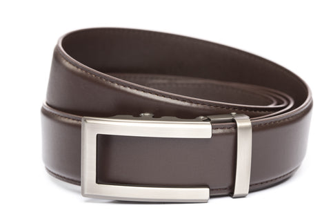 1-5-quot-traditional-buckle-in-gunmetal 1-5-quot-dark-brown-leather-strap