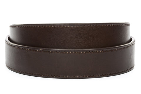 "1.5"" Espresso Vegetable Tanned Leather Strap - Anson Belt & Buckle"