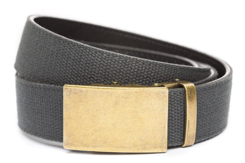 1-5-quot-classic-buckle-in-antiqued-gold 1-5-quot-graphite-canvas-strap