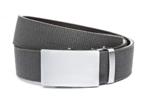 1-5-quot-classic-buckle-in-silver 1-5-quot-graphite-canvas-strap