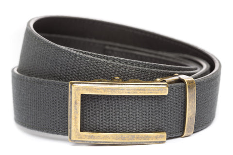 1-5-quot-traditional-buckle-in-antiqued-gold 1-5-quot-graphite-canvas-strap