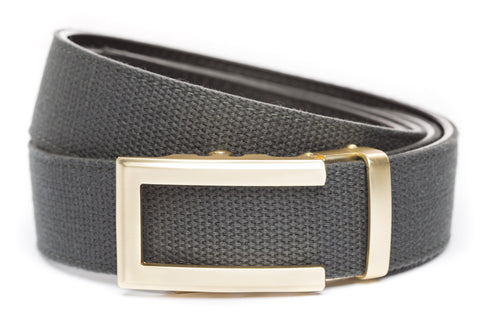 1-5-quot-traditional-buckle-in-gold 1-5-quot-graphite-canvas-strap